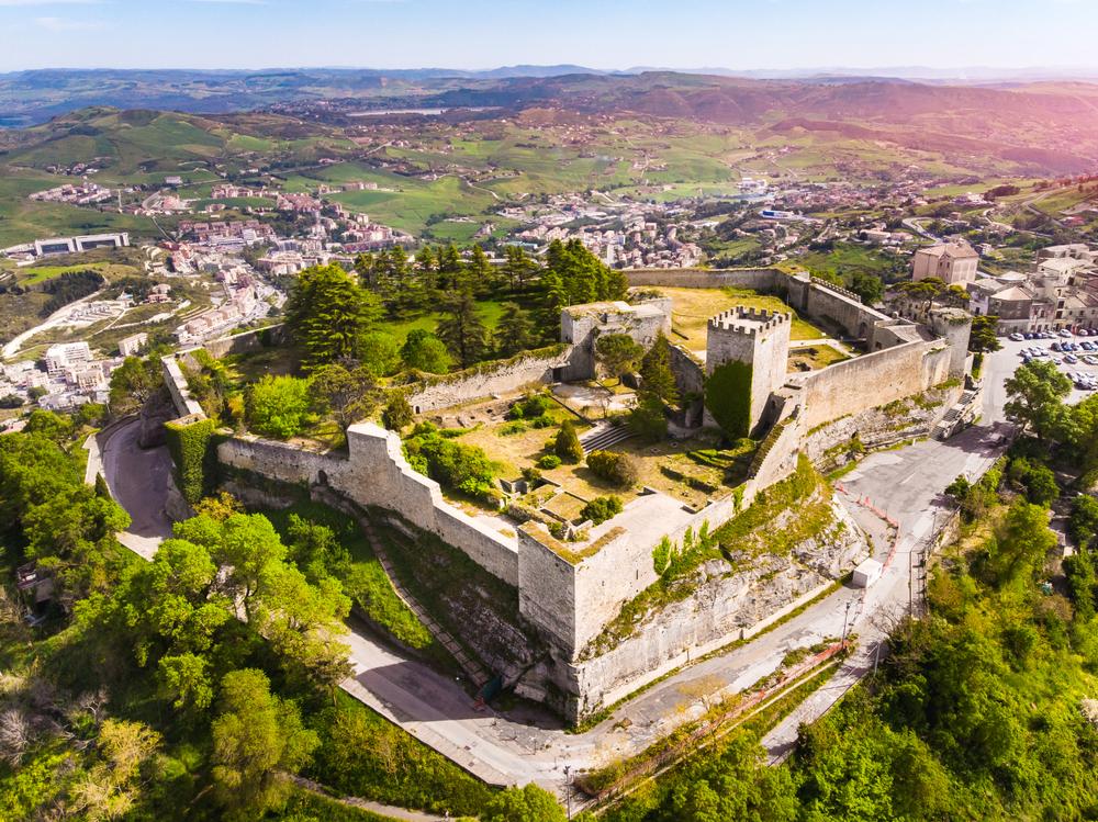 Castello di lombardia in Enna