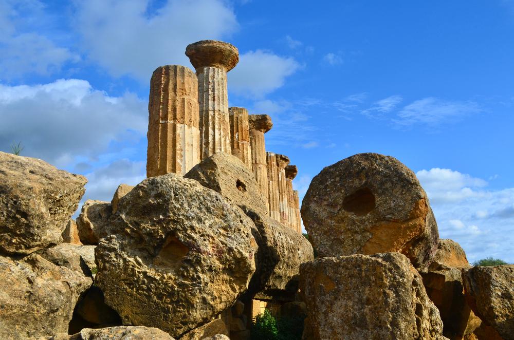 I resti del Tempio di Eracle