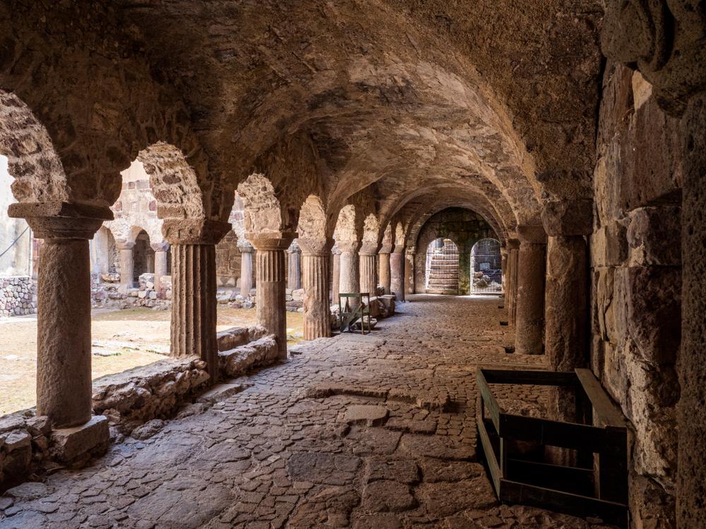 L'interno del Castello di Lipari