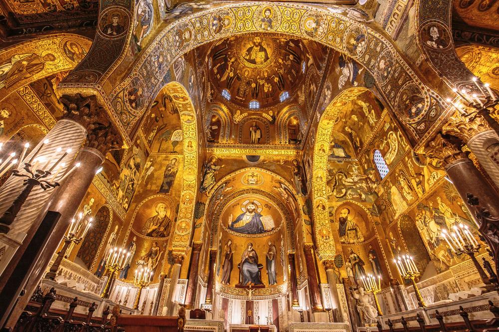 La sala interna della Cappella Palatina